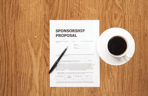 Create a request for Sponsorship support