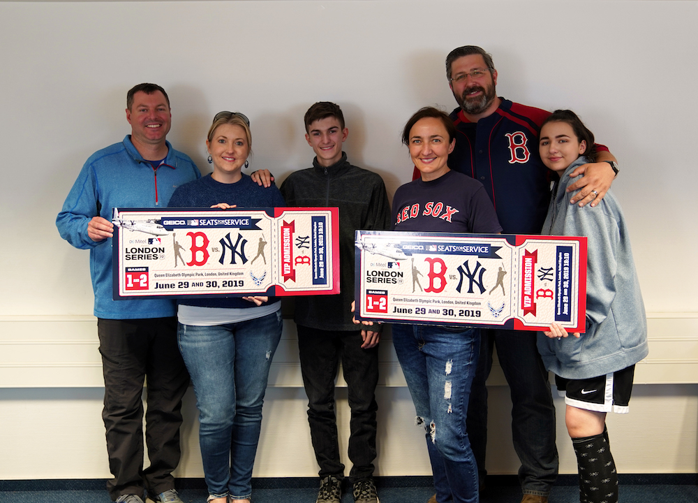 Mother's Day Winners of MLB: London Series Grand Prize!