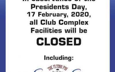 President's Day Facility Closures