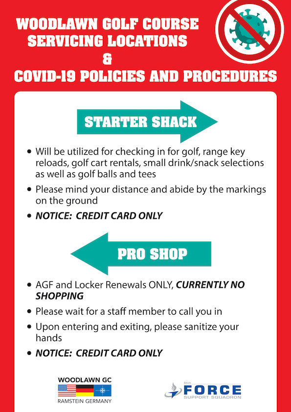 Woodlawn Golf Course COVID-19 Policies
