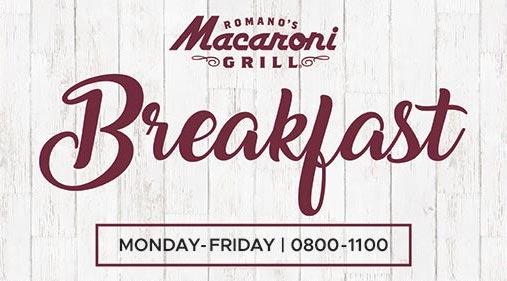 Breakfast at Macaroni Grill